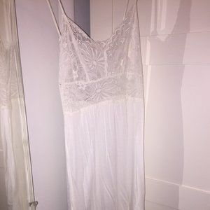 Ella Moss White Sheer Slip Lace Detail Dress Sz S
